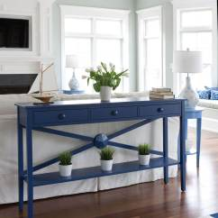 Dark Blue Sofa Table Omnia Leather Sofas Ideas Decorating Curdataco
