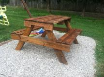 Wood Picnic Table Made From Pallets