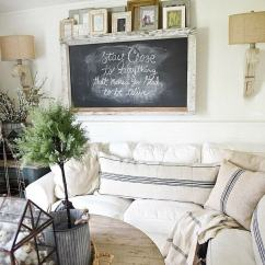 Ideas For Walls In Living Room Extra Large Rugs 35 Best Farmhouse Decor And Designs 2019 Simple Chalkboard Wall Art