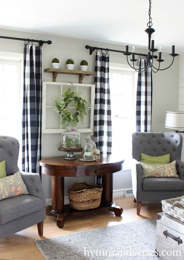 Farmhouse Living Room Curtain Ideas