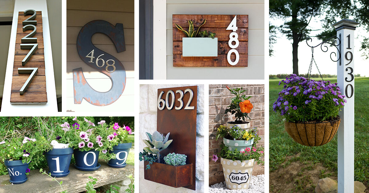 33 Best Creative House Number Ideas And Designs For 2019