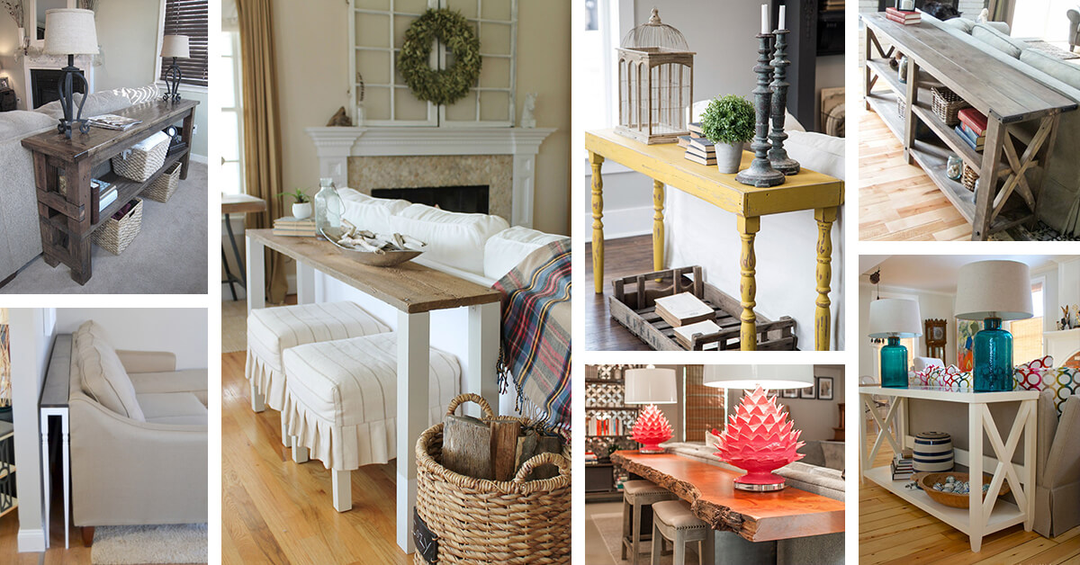 25 Best Sofa Table Ideas And Designs For 2020