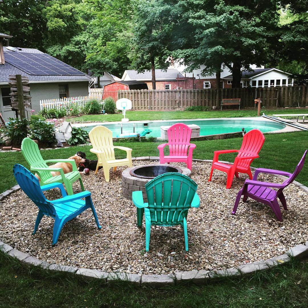 Chairs Around Fire Pit 28 Best Round Firepit Area Ideas And Designs For 2019