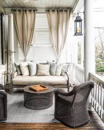 Outdoor Front Porch Curtains Ideas