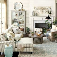 French Country Decorating Ideas For Living Rooms Grey Room Rugs 35 Best Design And Decor 2019 Inviting Livingroom With Striped Linen Couch