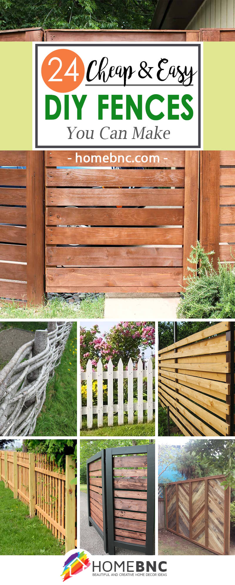best diy fence decor ideas and designs