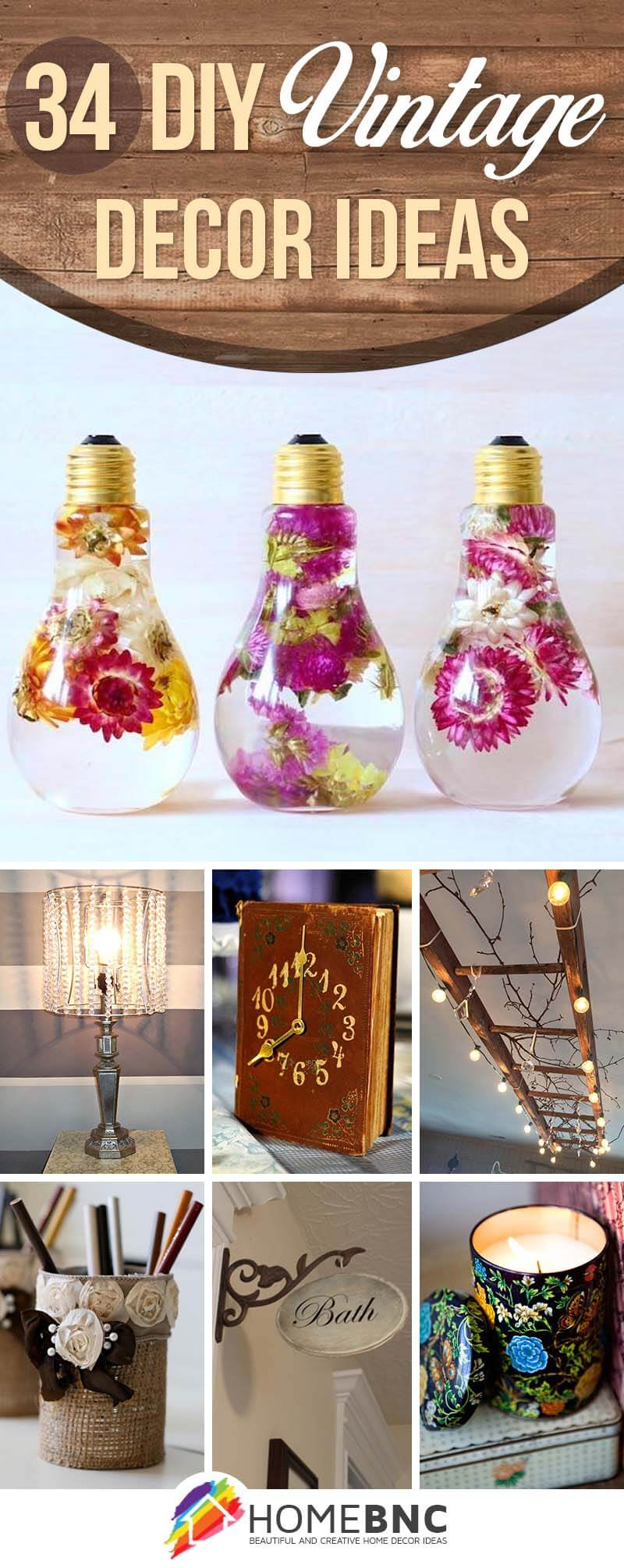 34 Best DIY Vintage Decor Ideas and Projects for 2019