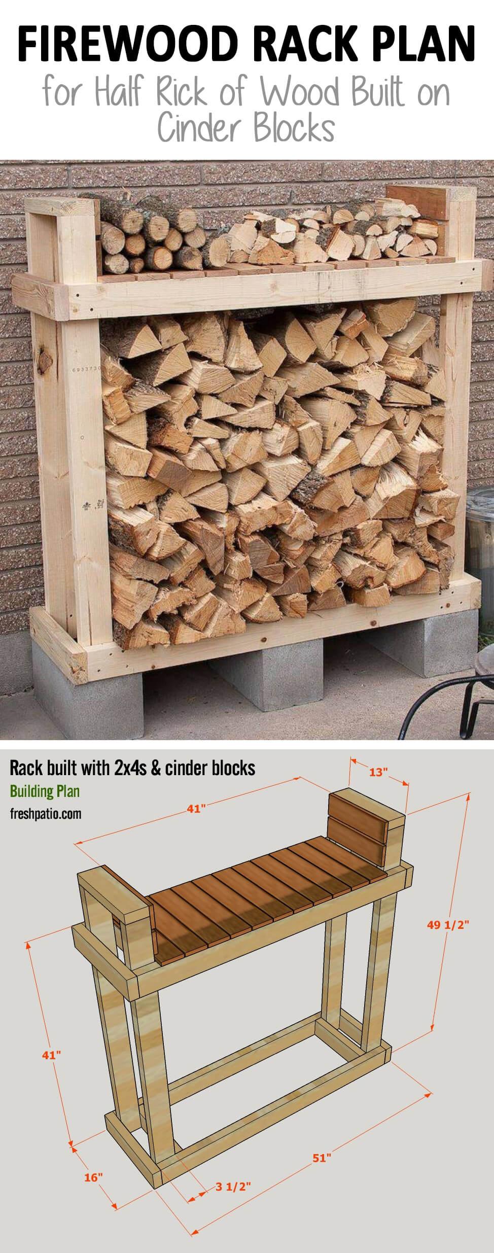 15 best diy outdoor firewood rack ideas