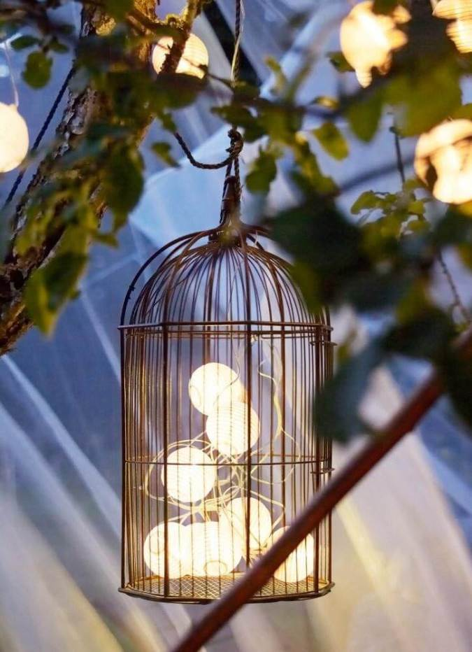 Add a Bird-cage to your Tree Lighting for Interest