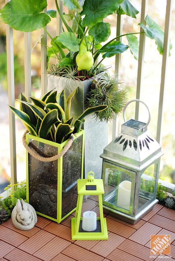 Garden Lanterns go From Night to Day Décor