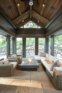 Pinterest Screened Porch Stained Shiplap