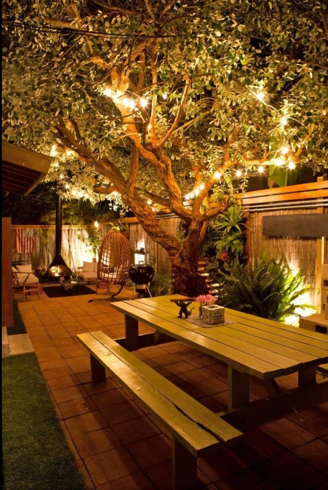 69 best diy outdoor lighting ideas for limit wide space in 2018 highlight your gardens assets with strung lighting and sconces mozeypictures Images