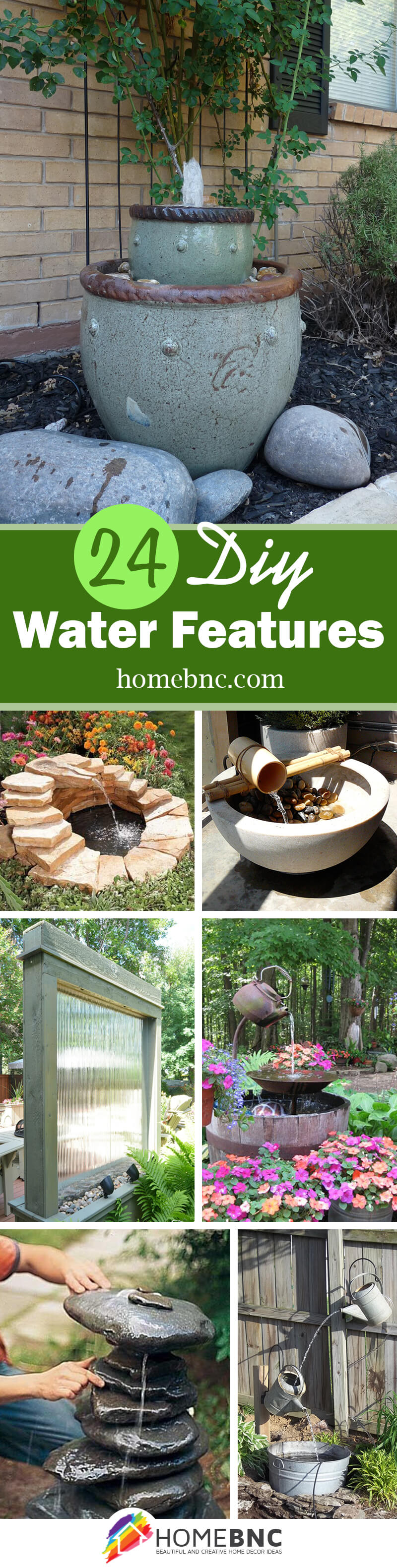 24 best diy water feature ideas and