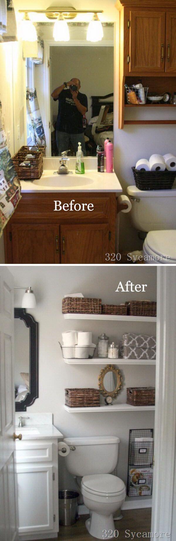 25 Best DIY Bathroom Shelf Ideas and Designs for 2019