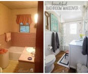 bathroom makeover pictures before and after