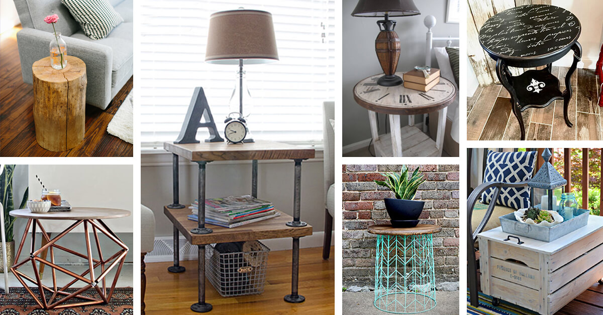 25+ Best DIY Side Table Ideas And Designs For 2019