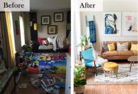 Living Room Before And After Makeovers