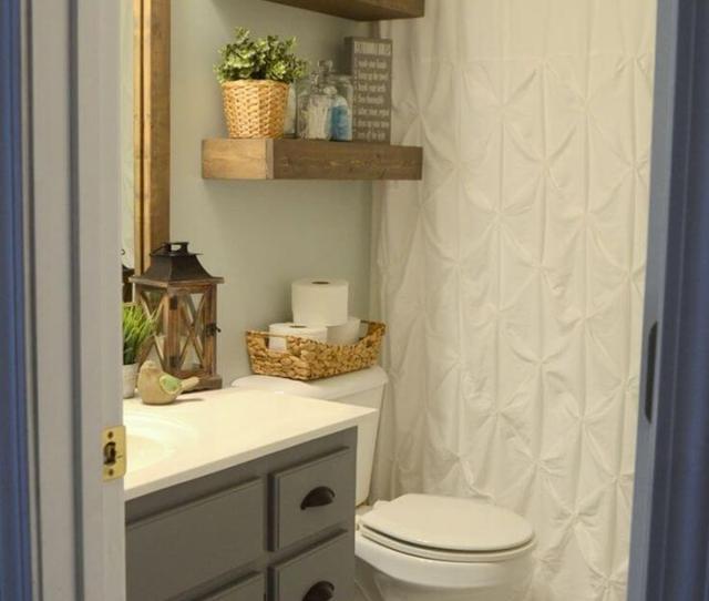 Charming Wood Bathroom Storage Shelves