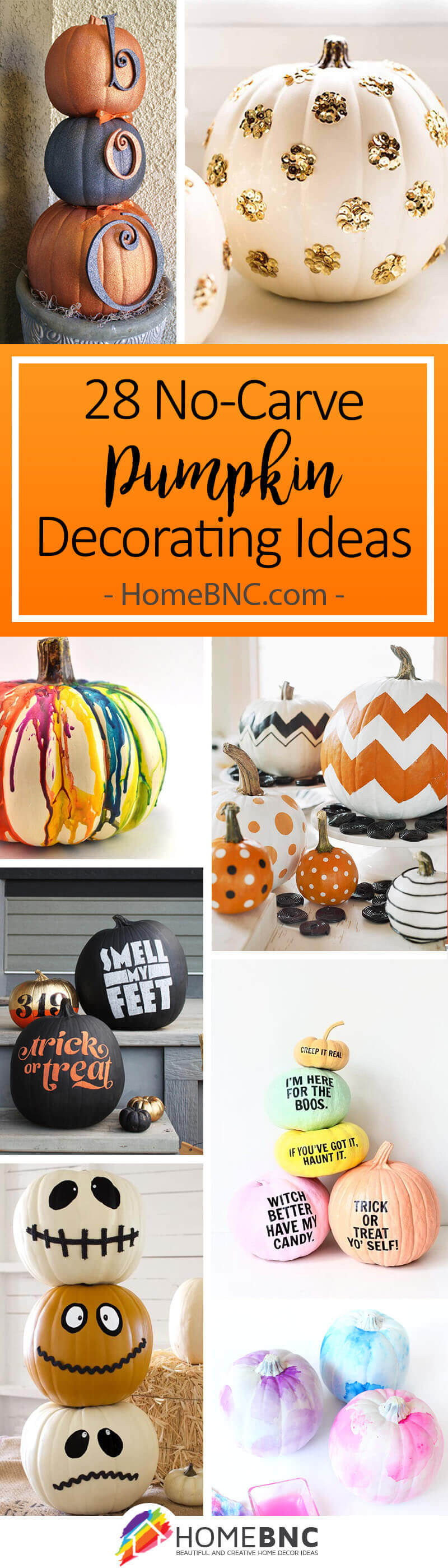 28 Best No Carve Pumpkin Decorating Ideas And Designs For 2019