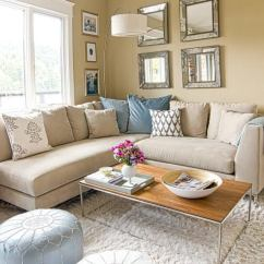 Living Room Decorating Ideas Beige Couch How To Decorate A Narrow Rectangular 23 Best Design For 2019 15 Mix Textures And Patterns
