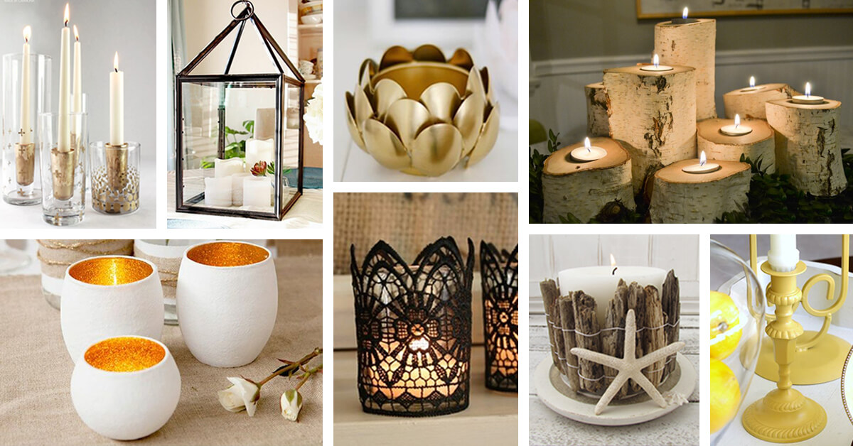 21 Best DIY Candle Holder Ideas and Designs for 2019