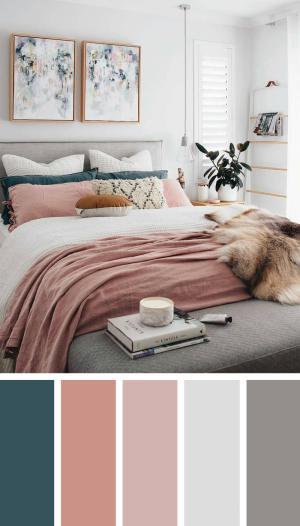bedroom scheme teal blush fresh feminine designs homebnc