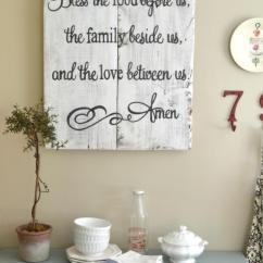 Kitchen Wall Hangings Free Standing Sink Unit Sale 36 Best Decor Ideas And Designs For 2019 Food Family Love Prayer Sign