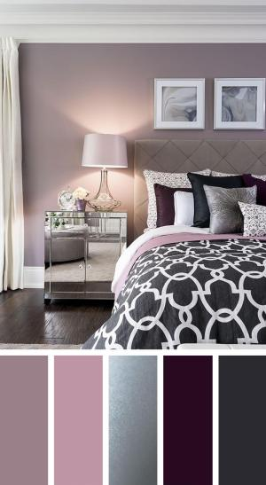 bedroom scheme palette silver lavender plum elegant designs homebnc