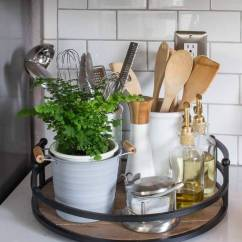 Kitchen Counter Organizer Square Wall Clocks 23 Best Clutter Free Countertop Ideas And Designs For 2019 Lazy Susan Gadget