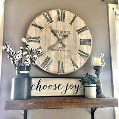 Kitchen Wall Hangings Freestanding Cabinet 36 Best Decor Ideas And Designs For 2019 13 Rustic Clock Plant Display
