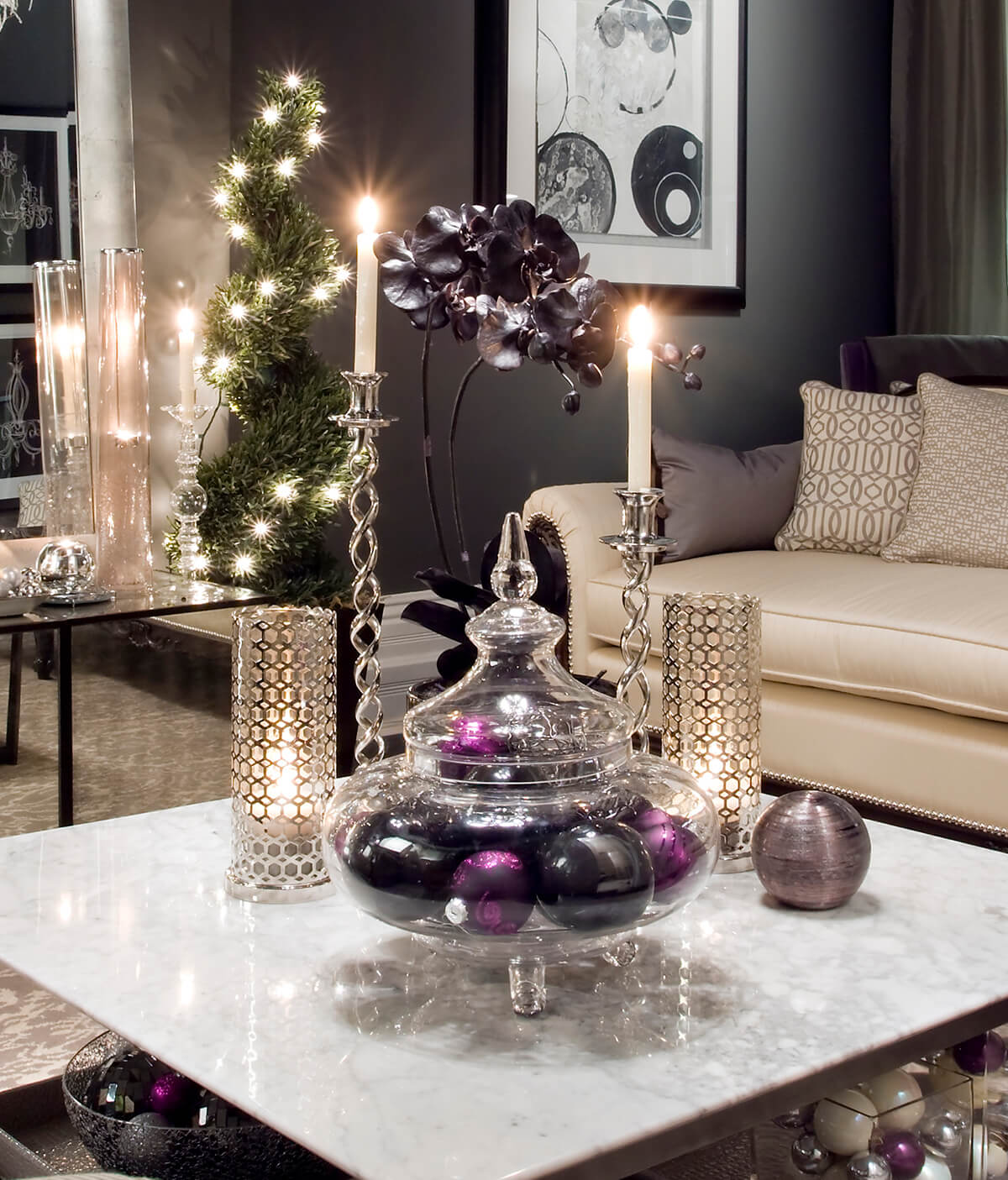 images of christmas living room decorations cheap accent chairs for 32 best decor ideas and designs 2019 7 three kings royalty purple gold