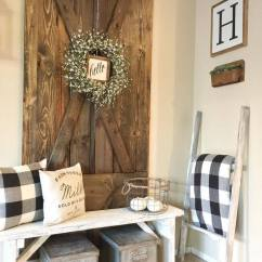How To Decorate Living Room Wall Ideas With Light Blue Sofa 45 Best Farmhouse Decor And Designs For 2019 Barn Doors