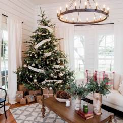 Images Of Christmas Living Room Decorations Paint Ideas With Wood Floors 32 Best Decor And Designs For 2019 11 Kraft Paper Packages Tied Up Ribbon