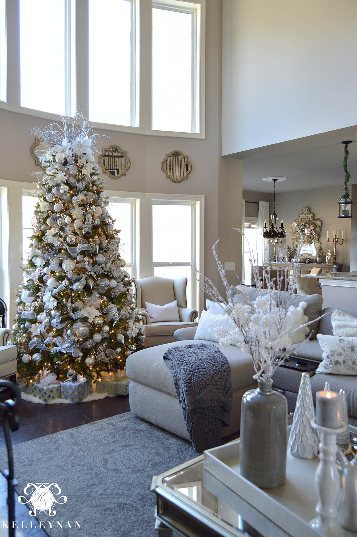 images of christmas living room decorations style quiz 32 best decor ideas and designs for 2019 12 tree in silvery white grandeur