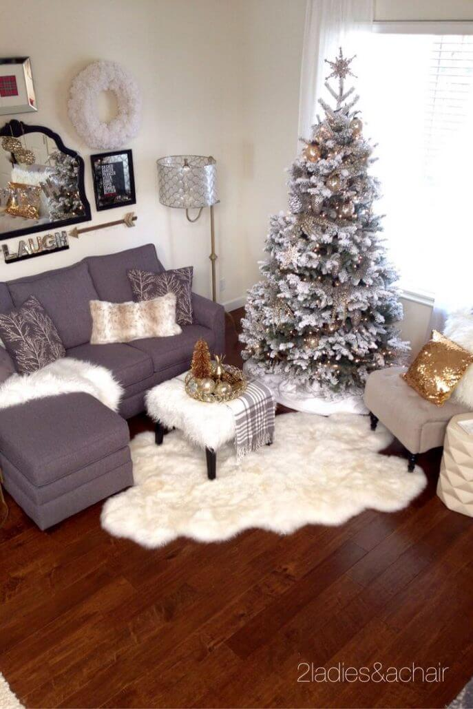 decorate small living room for christmas decorating ideas indian homes 32 best decor and designs 2019 15 snowy tree with snow all around