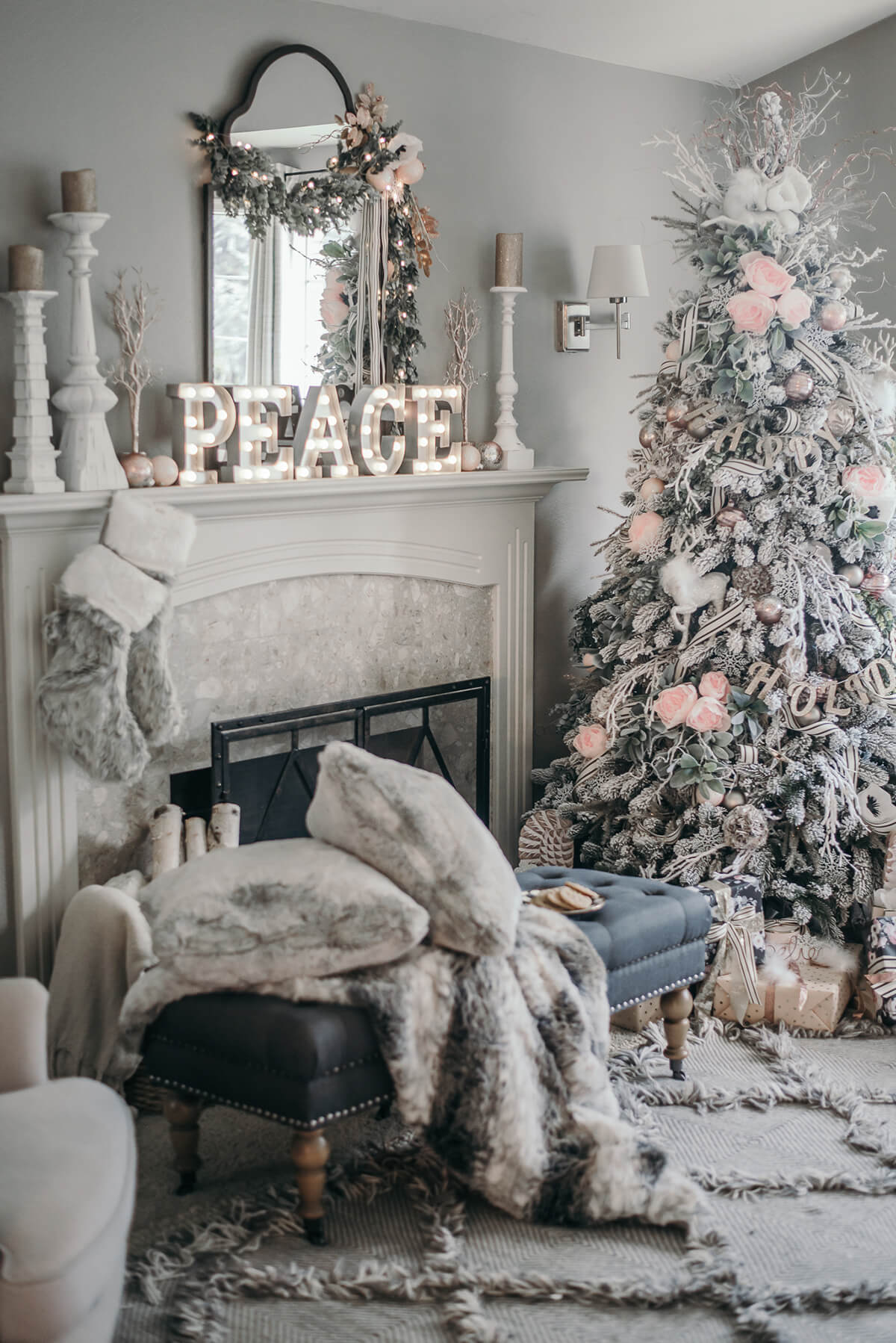 decorate small living room for christmas furniture ideas 2016 32 best decor and designs 2019 peace in furry white