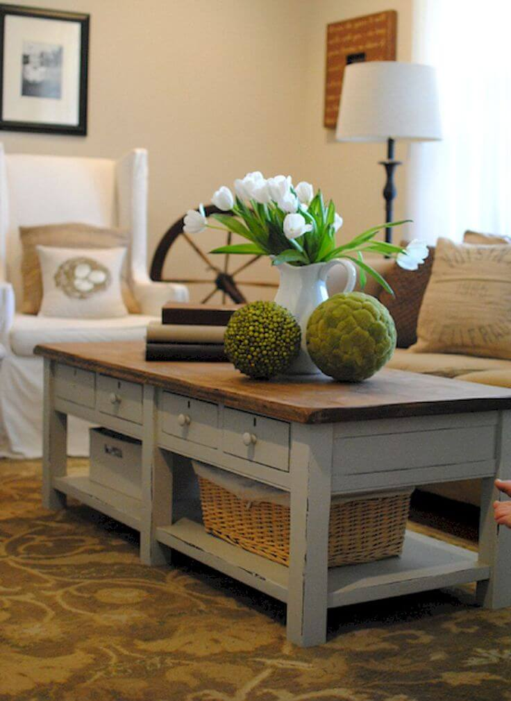 25 Best DIY Farmhouse Coffee Table Ideas And Designs For 2019
