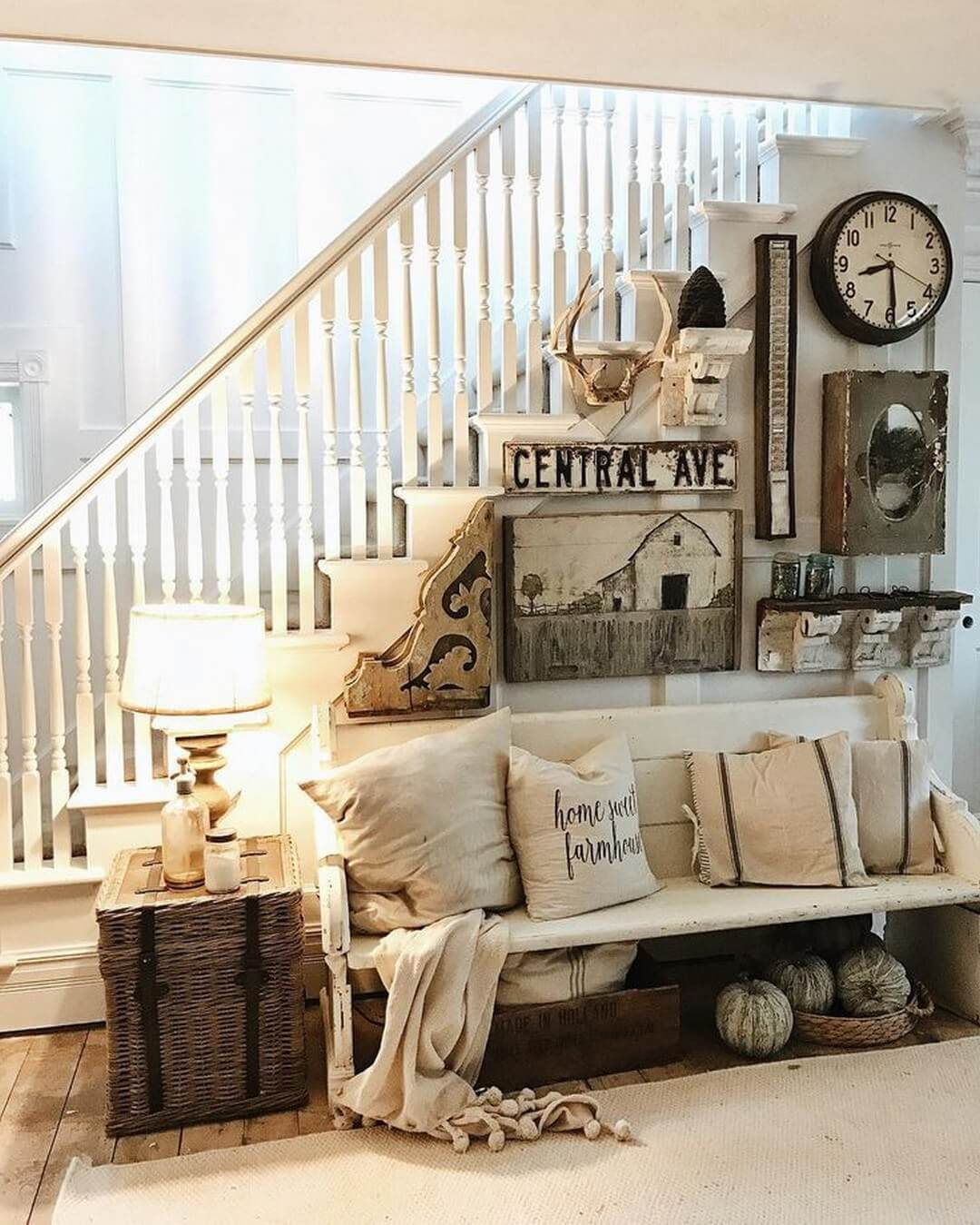 how to decorate living room wall inexpensive sets 45 best farmhouse decor ideas and designs for 2019 35 central avenue meets middle of nowhere