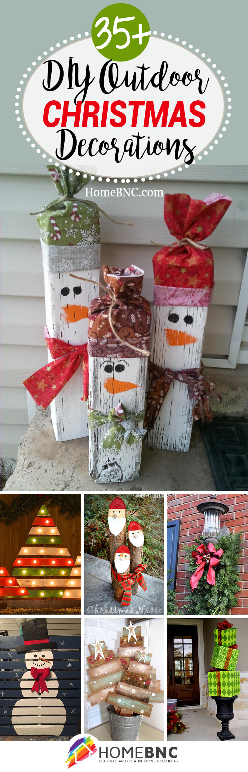 35 Best Christmas DIY Outdoor Decor Ideas and Designs for