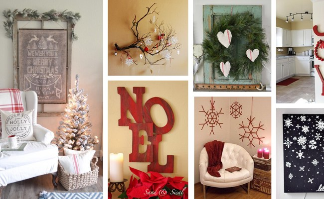 35 Best Christmas Wall Decor Ideas And Designs For 2019