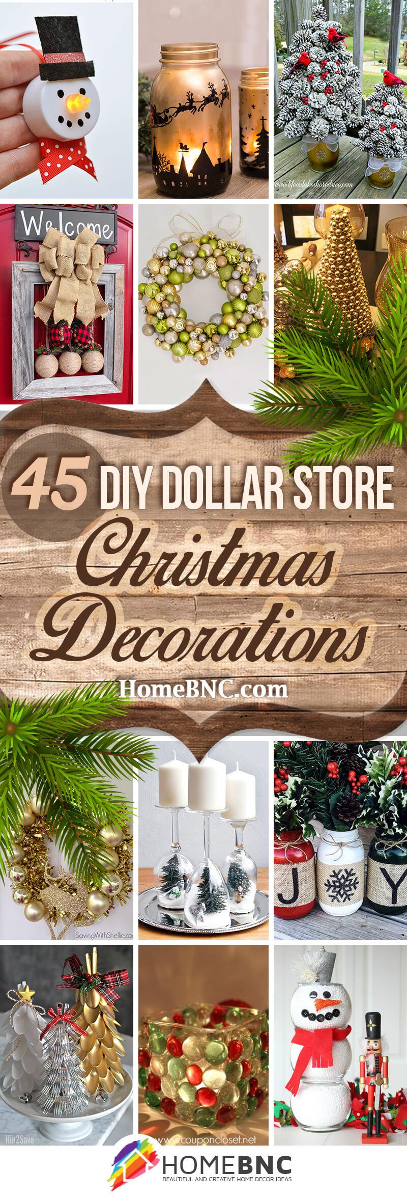 45 Best Diy Dollar Store Christmas Decor Craft Ideas For 2020