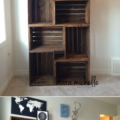 Diy Living Room Ideas Brown Couches 45 Best Decorating And Designs For 2019 11 Make Your Own Stacked Crate Bookshelf