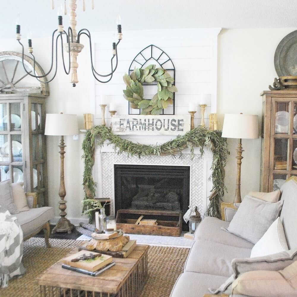 28 Best Farmhouse Mantel Decor Ideas and Designs for 2019