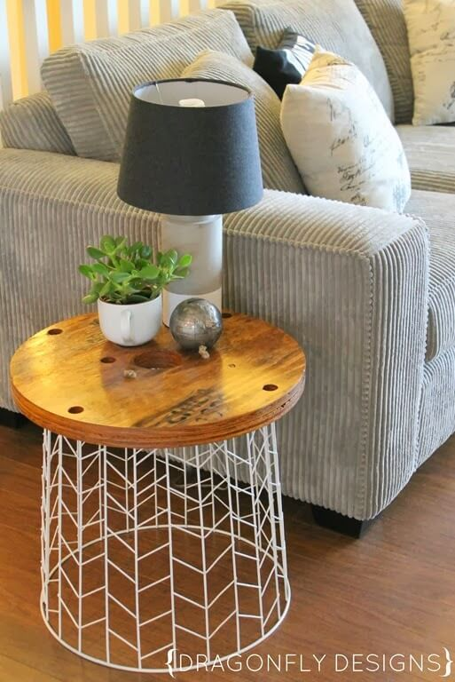 diy living room table decor primitive curtains for 45 best decorating ideas and designs 2019 easy wire basket side project