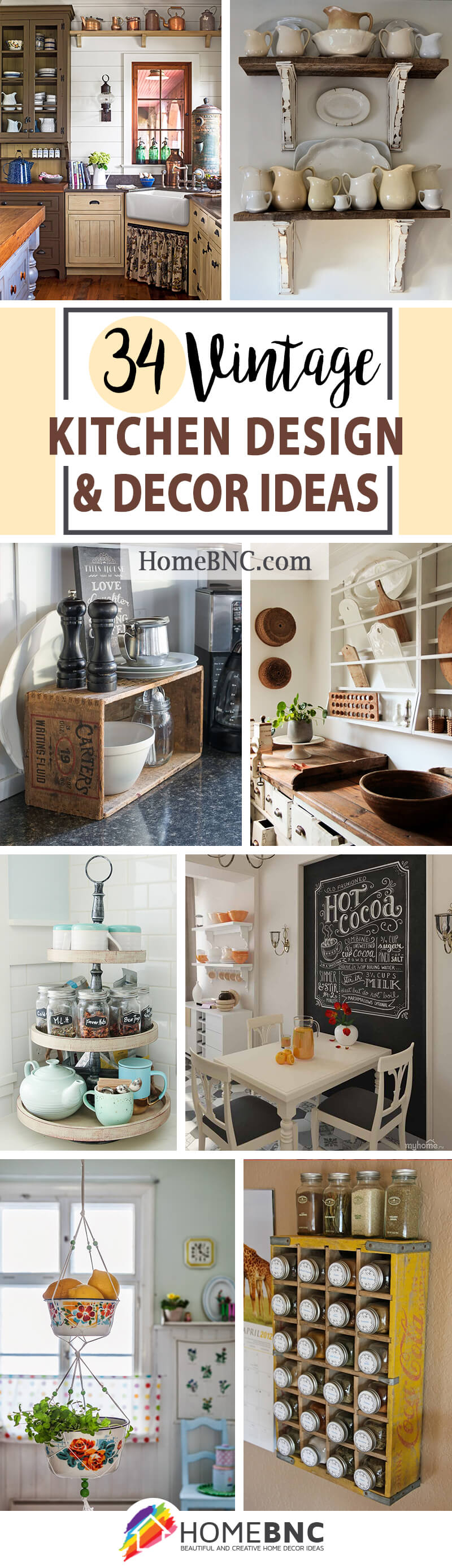 34 Best Vintage Kitchen Decor Ideas And Designs For 2020
