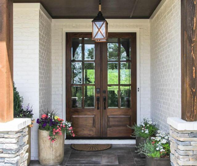 Rustic Chic Mirrored Front Door