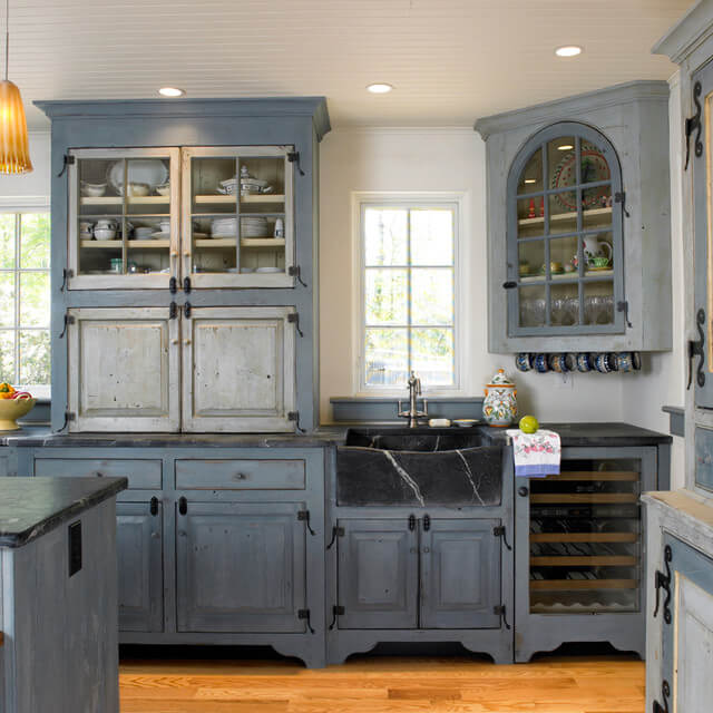 farmhouse kitchen cabinets delta touchless faucet 35 best cabinet ideas and designs for 2019 dark cobalt blue matte