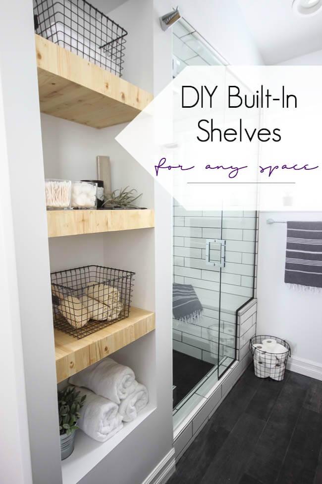 25 Best Builtin Bathroom Shelf and Storage Ideas for 2019