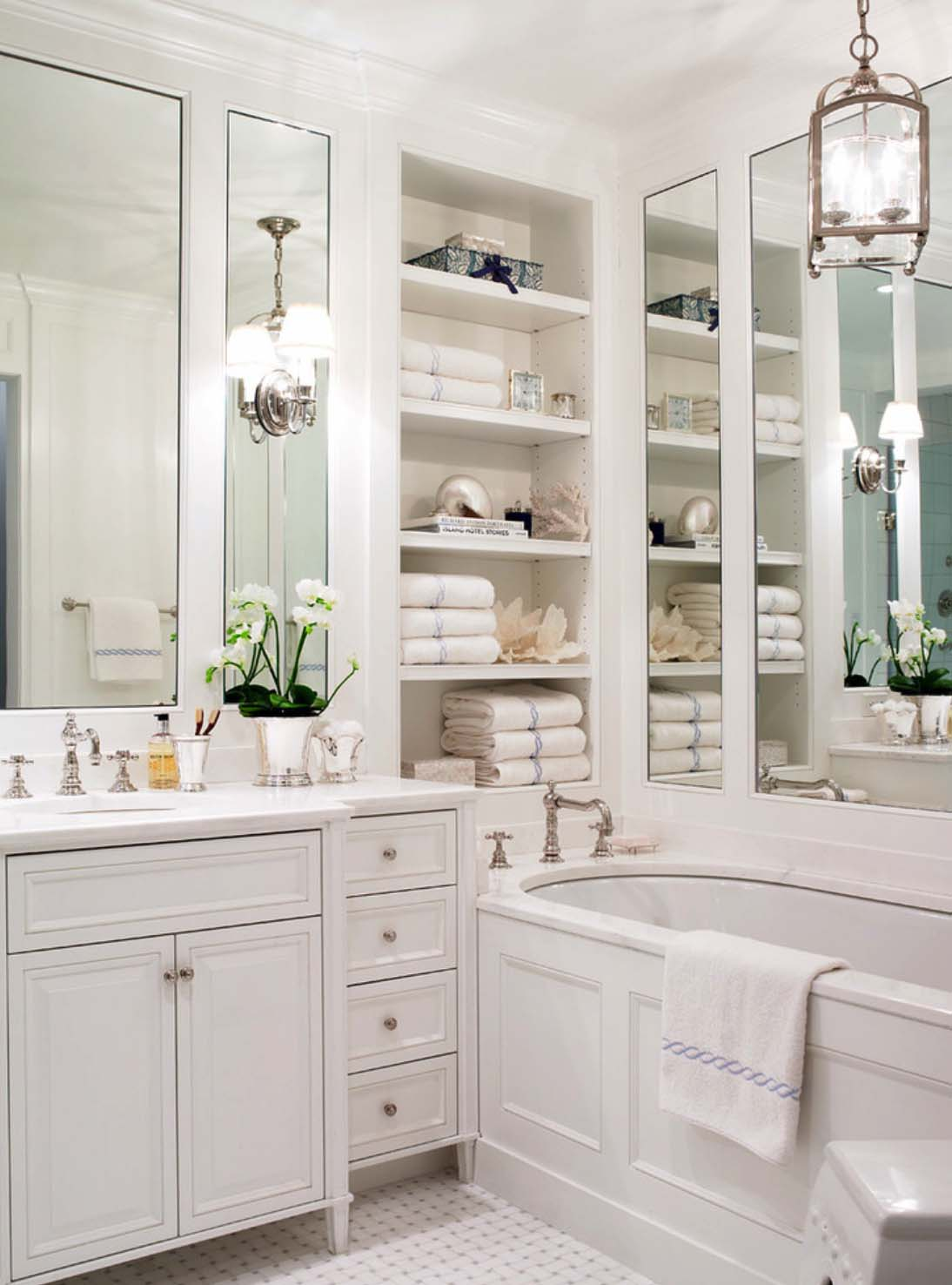 Built In Bathroom Shelves 25 Best Built In Bathroom Shelf And Storage Ideas For 2019