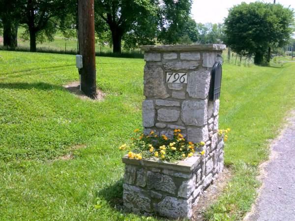 Stone Mailbox Design Ideas